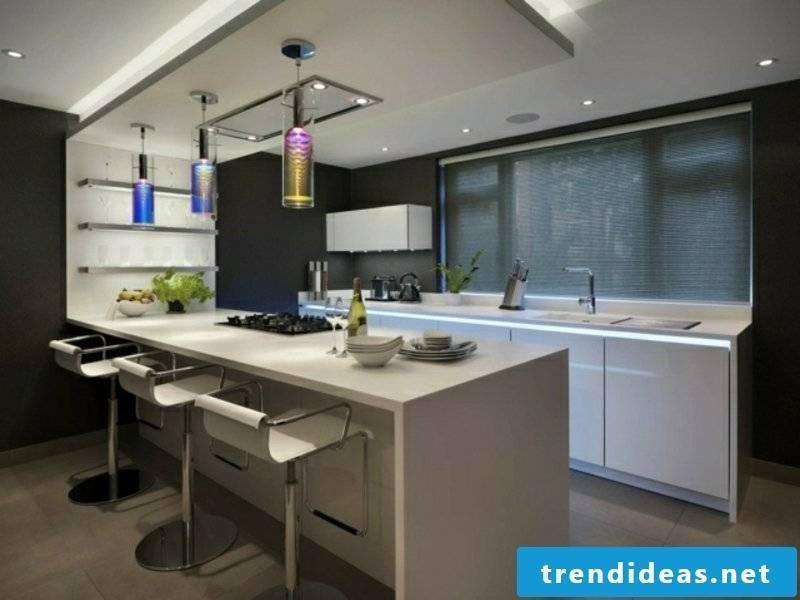 elegant kitchen island made of artificial stone