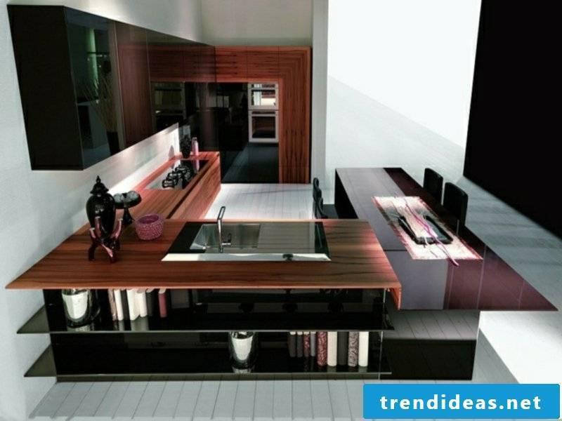 modern glamor on the kitchen island