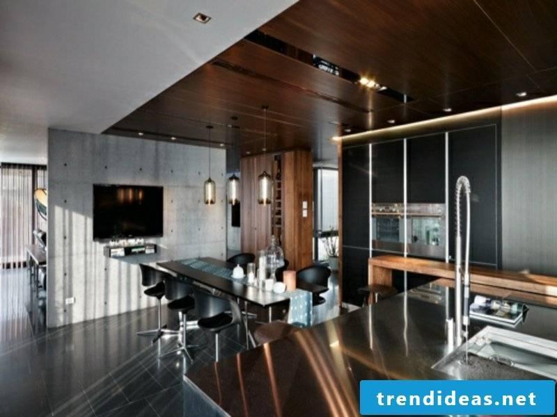 modern beautiful kitchen island