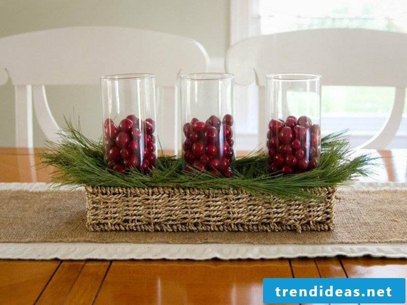 beautiful classic table decoration with glas
