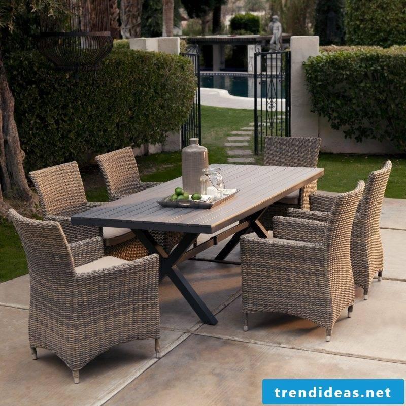 Design garden furniture made of rattan