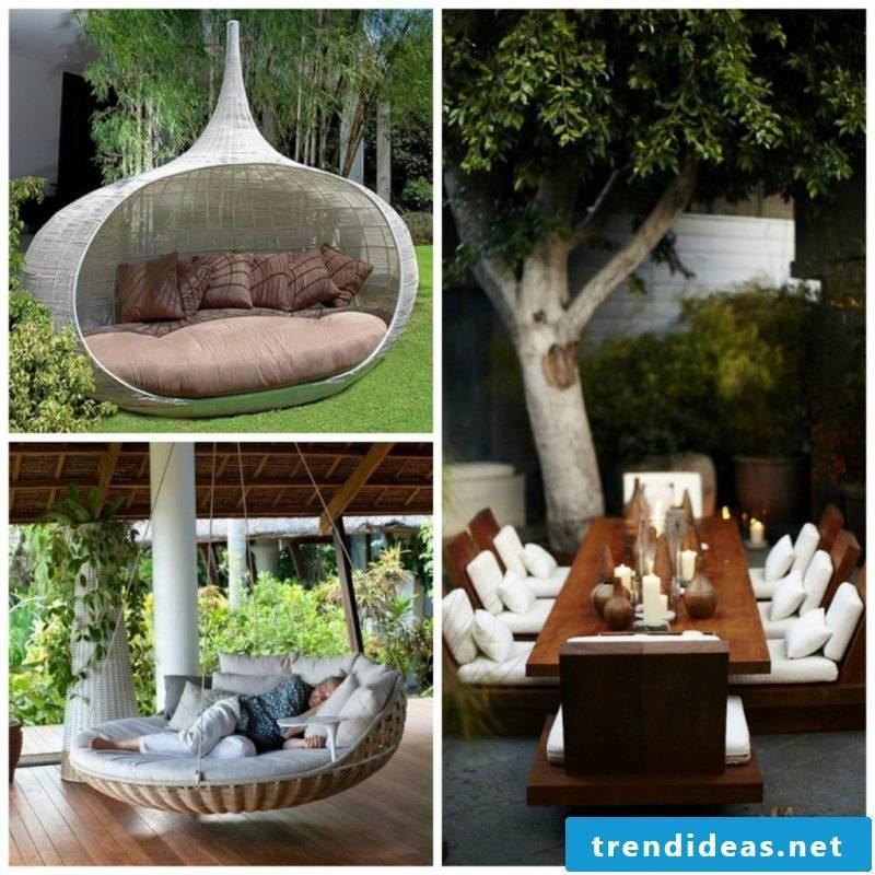 Creative ideas for design garden furniture
