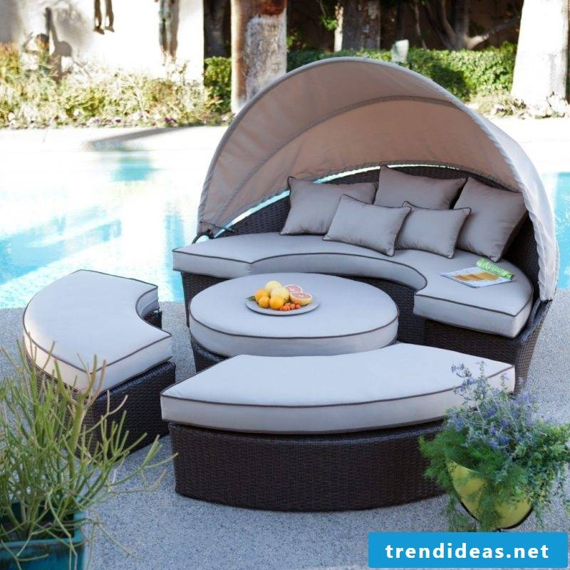 Design garden furniture: The lounger is perfect for swimming pool