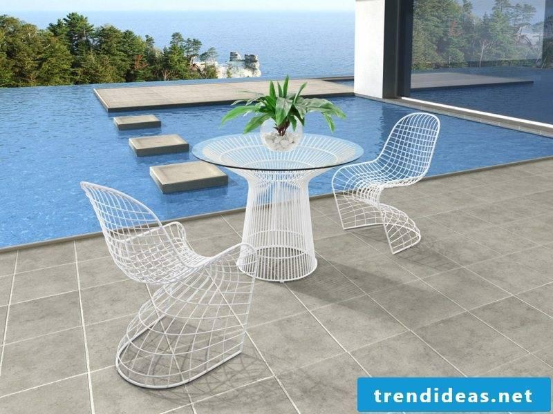 Design garden furniture minimalism