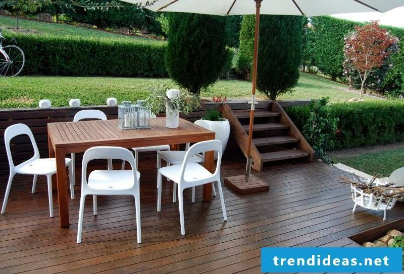 Design garden furniture: Combine the materialie