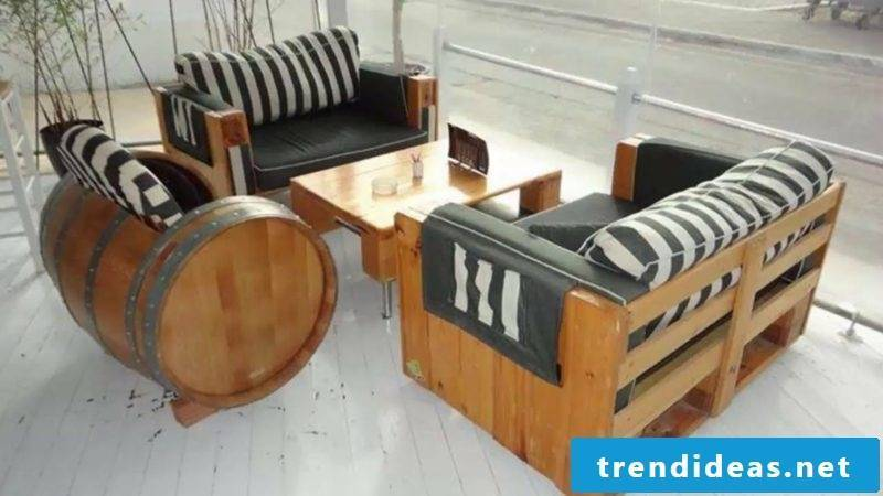 Coffee table made of europallets