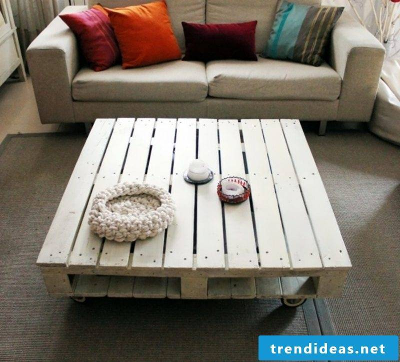 Strongly built furniture made of europallets