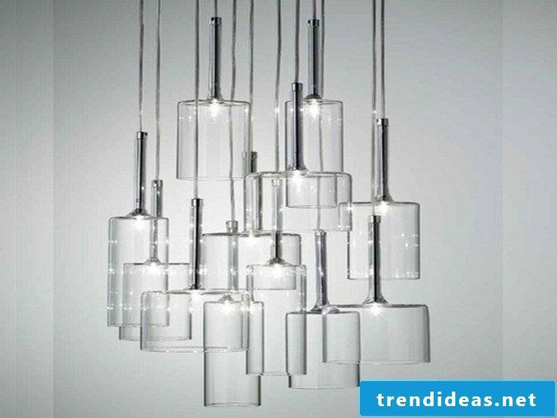 pendante glass dining room lamps