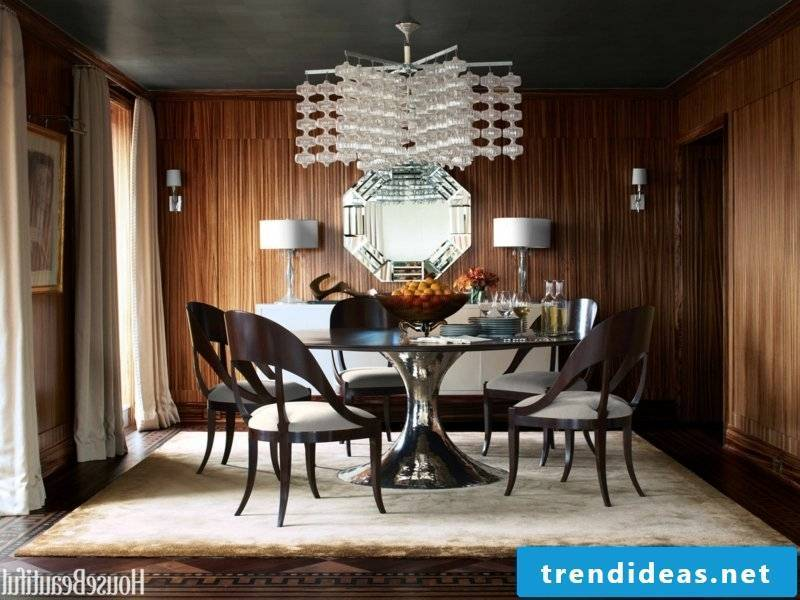 beautiful glass dining room lamps