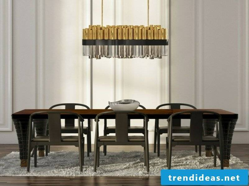 numerous brass dining room lamps
