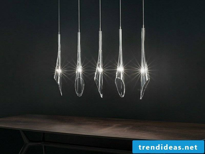 identical designer pendant lamp made of glass