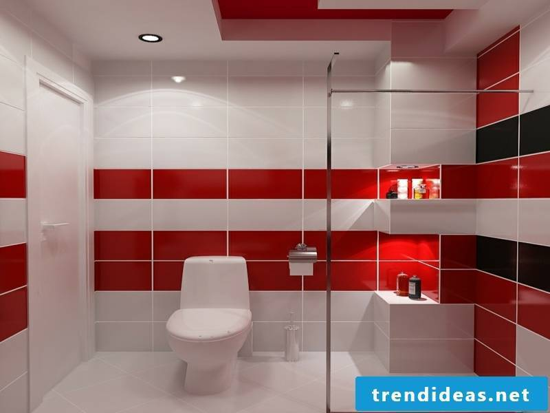 nice red idea in the traumbad