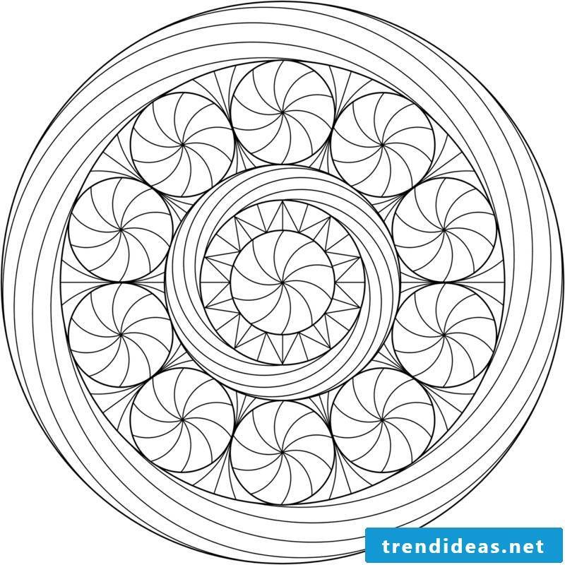 Mandala templates gives a good feeling