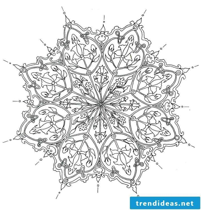Mandala templates feeling for shapes