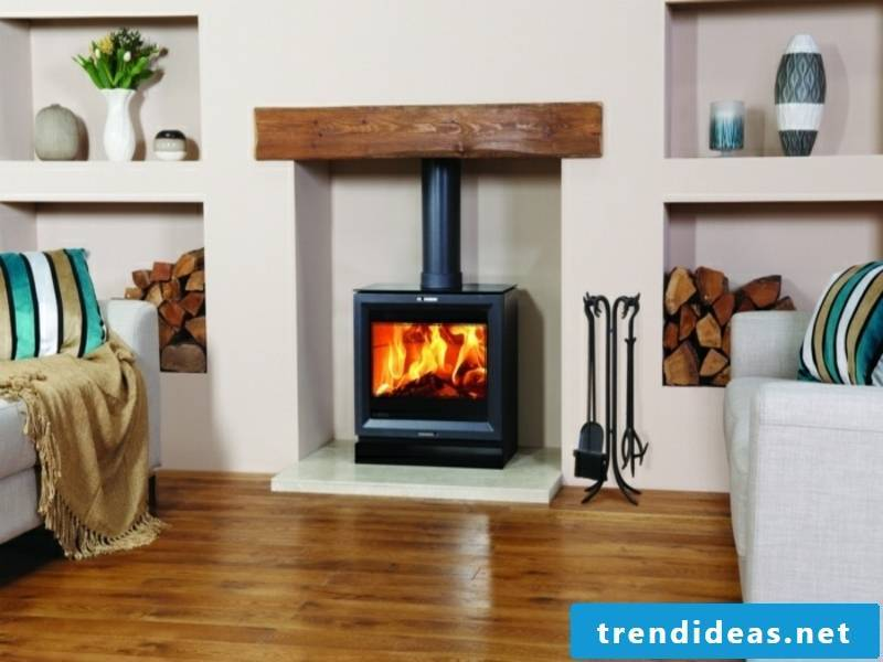 small modern fireplace in london