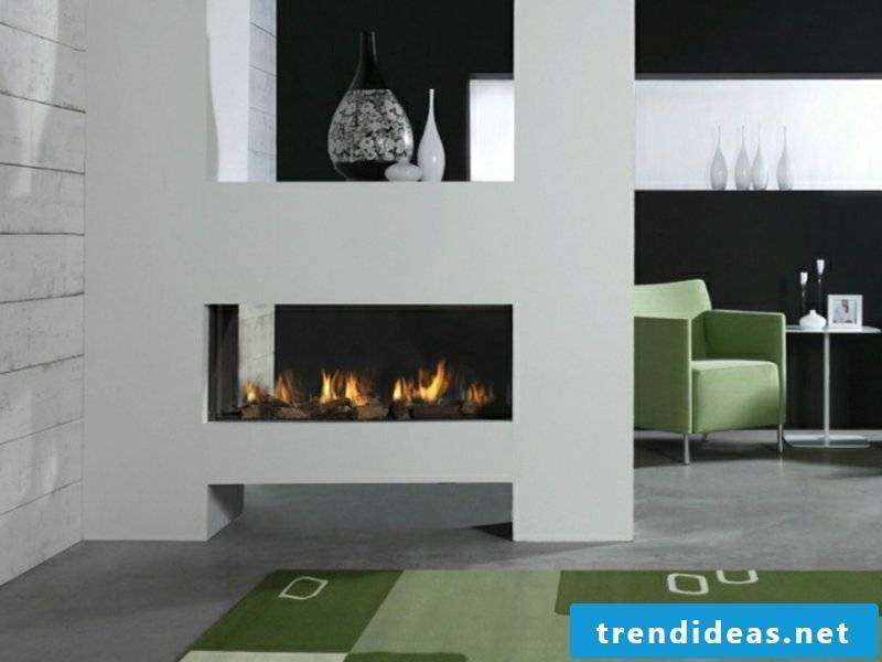 modern white glass fireplaces