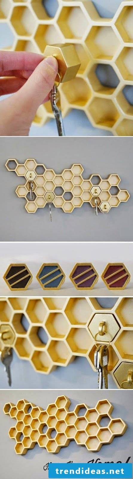 Do it yourself hacks: Key holder: The best storage for your keys!