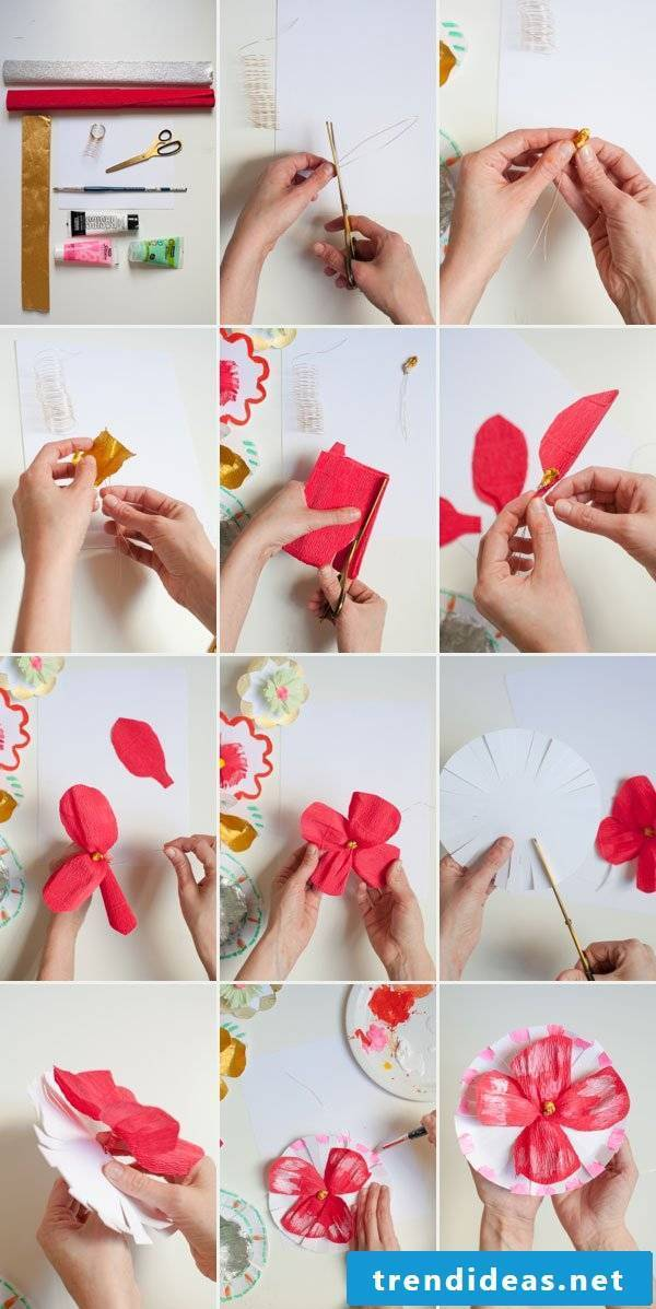 Origami flowers as decoration - DIY decoration ideas
