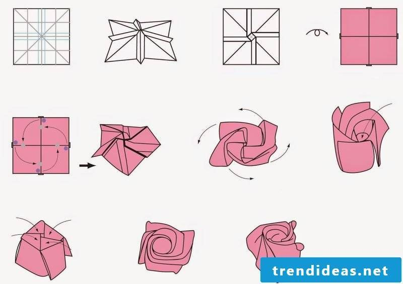 53 instructions for origami flower how to make unique flowers the simplest instructions for origami flower folding paper roses mightylinksfo