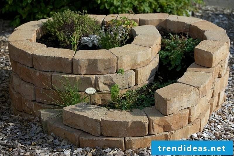 Herb spiral natural stone