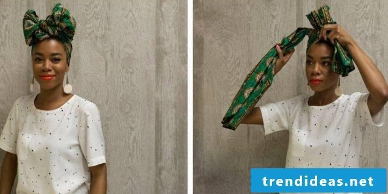 Headscarf tie bow