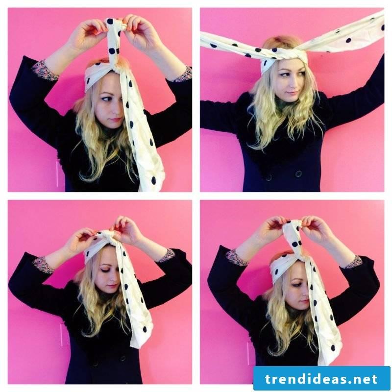 Tie headscarf tying bandages