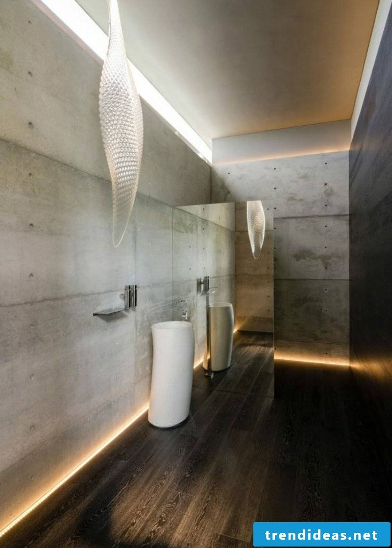 LED lighting indirectly bathroom