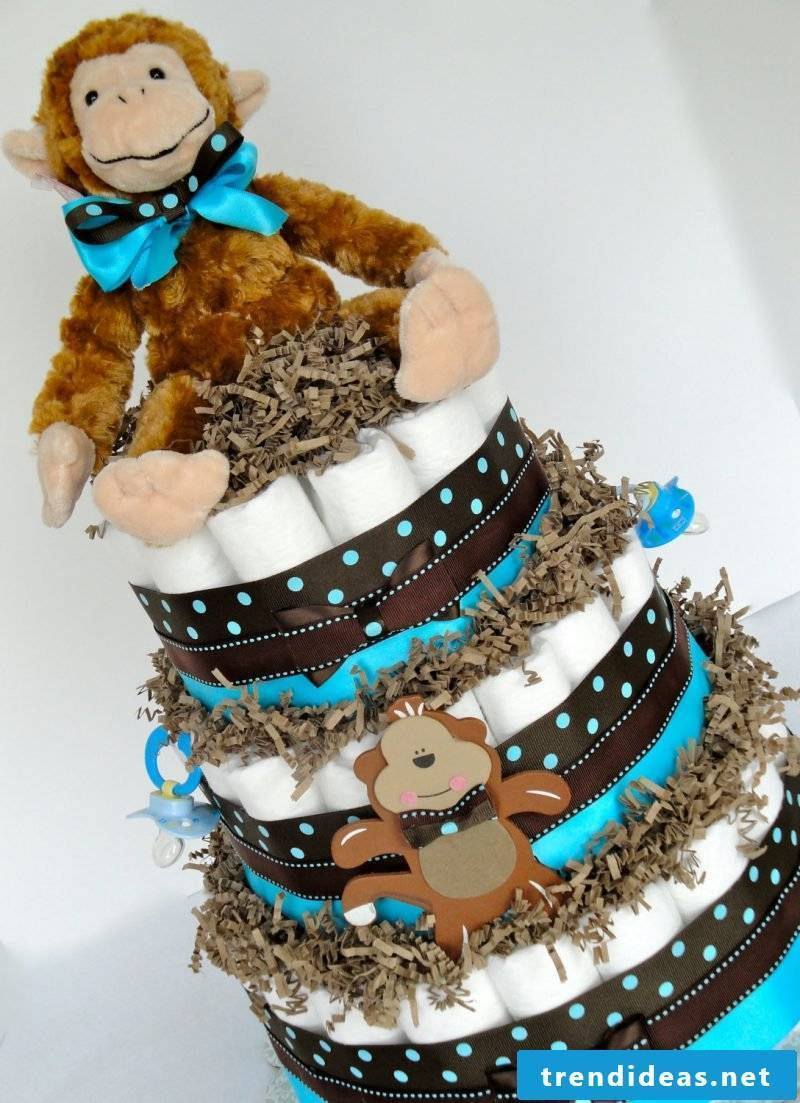 Instructions diaper cake ideas