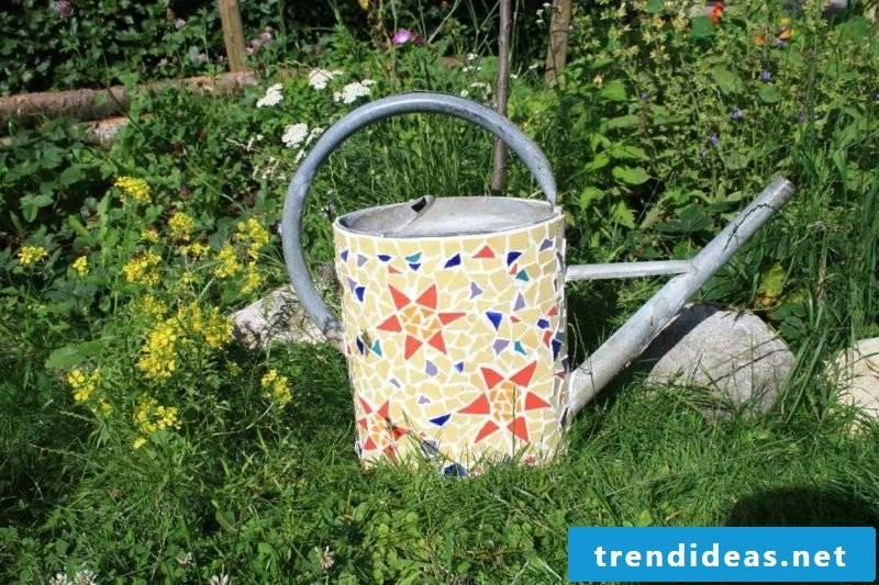 Mosaic make original decoration watering can