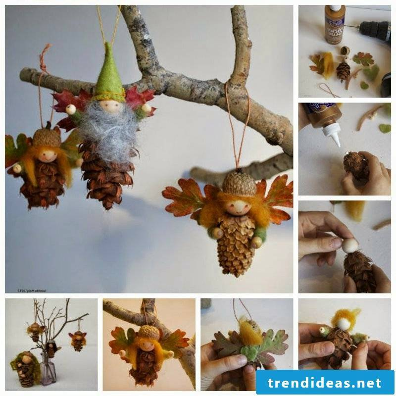 Tinker with pine cones and collect ideas