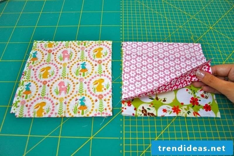Patchwork blanket sew steps