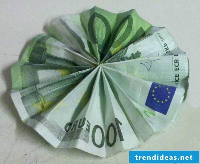 simple flower bank note