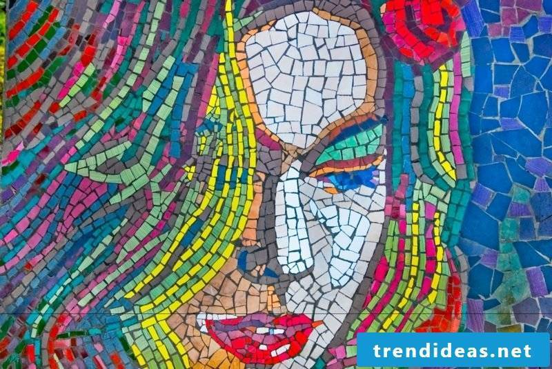 original mosaic woman crafting ideas