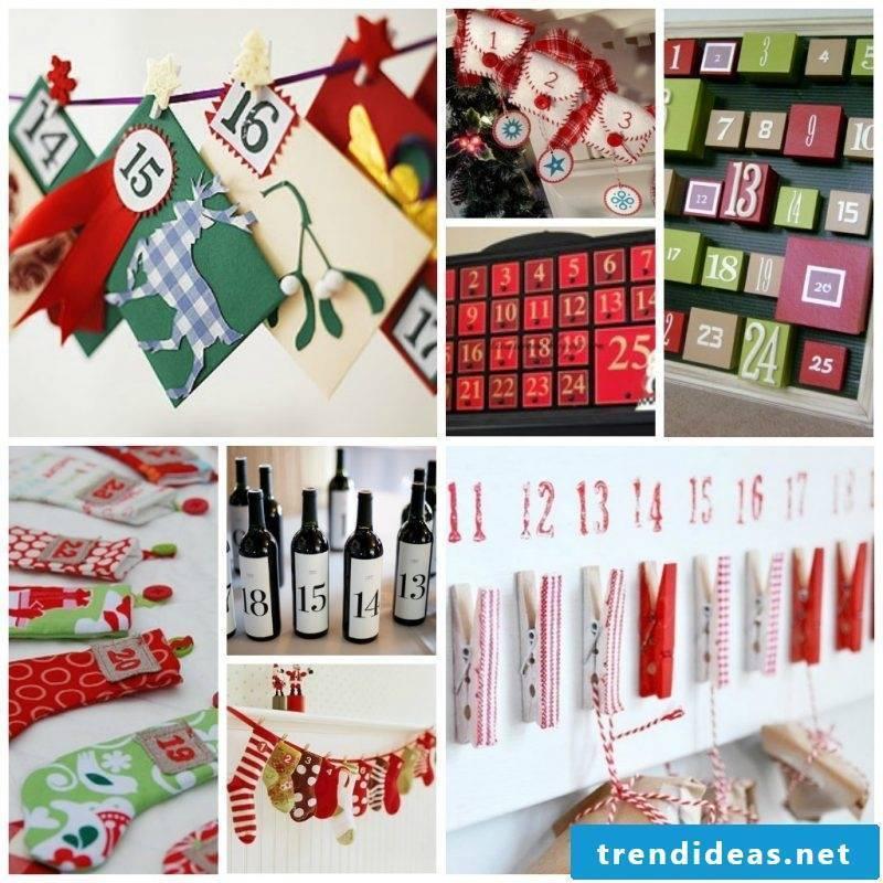Advent calendars sew types