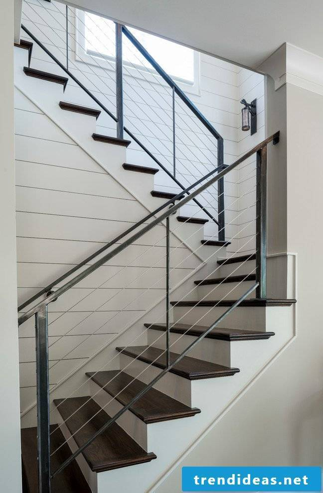 l stair rails made of metal in the interior design