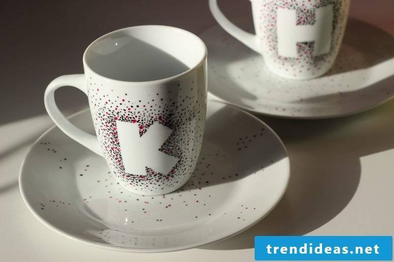 painted porcelain cups