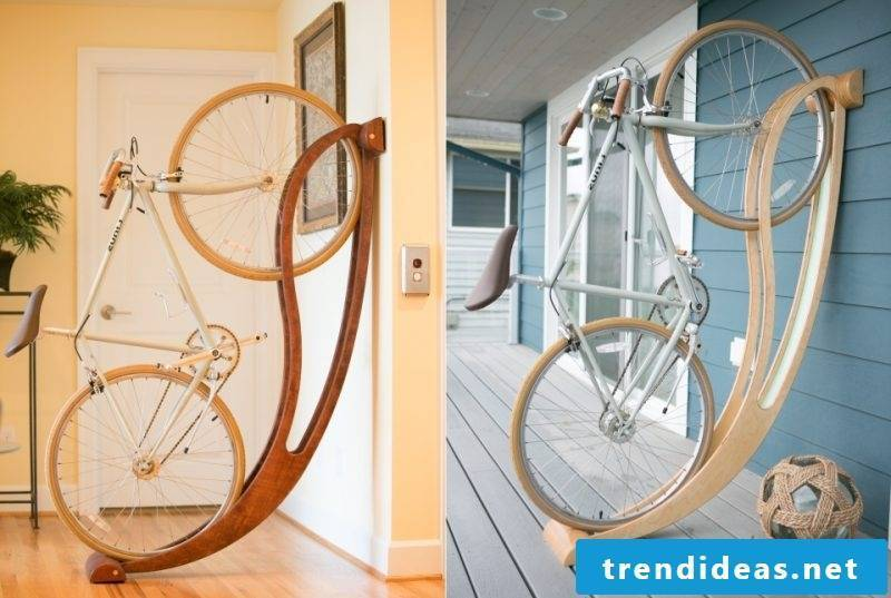 Bicycle mount for wall DIY