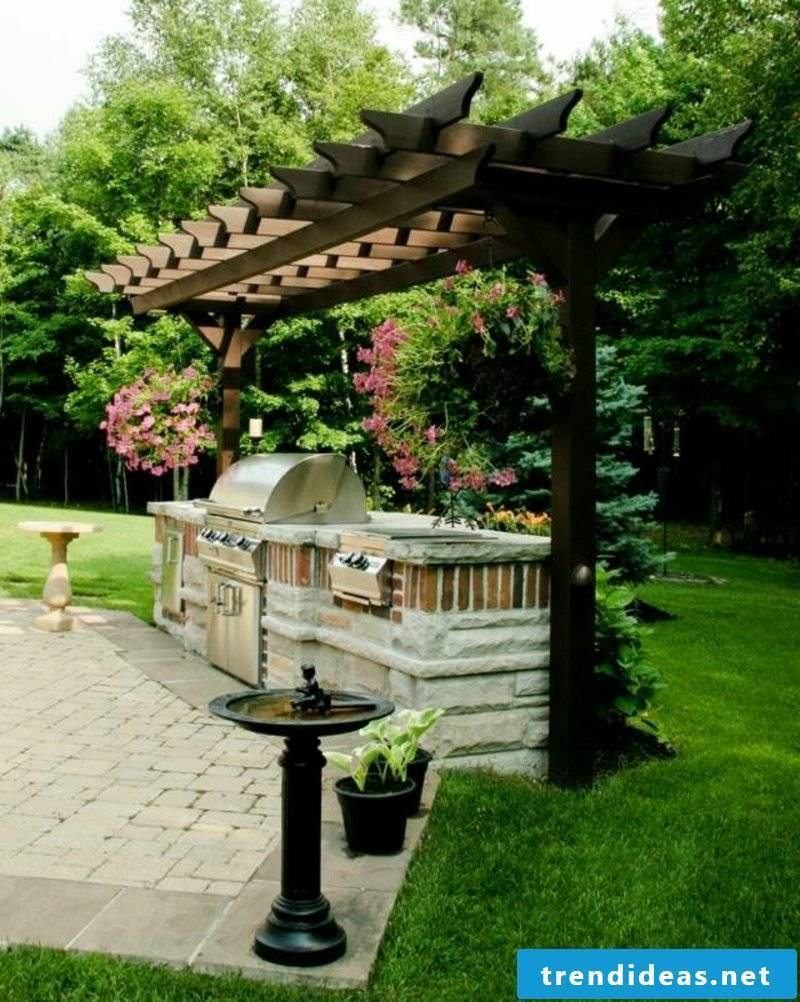 Grill of stone garden pergola Japanese style