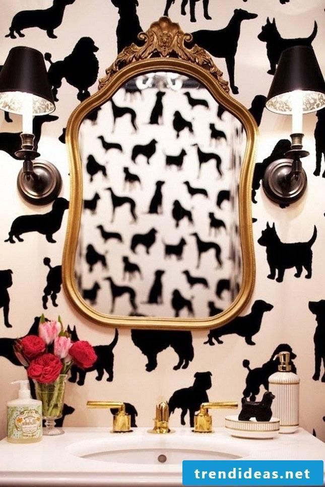 luxury bathroom ideas modern bathroom ideas wall wallpaper animal motifs black