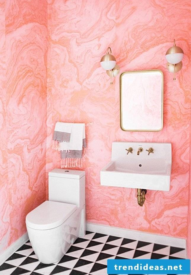 wallpaper pink modern bathroom ideas beautiful bathroom set up