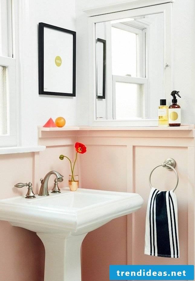Pink color bathroom set up bathroom ideas