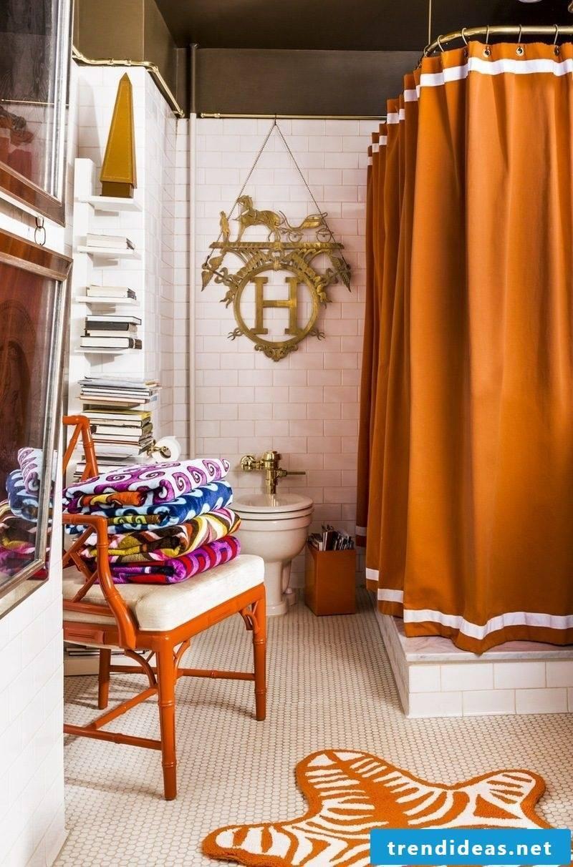 bathroom renovate bathroom ideas curtain orange chair