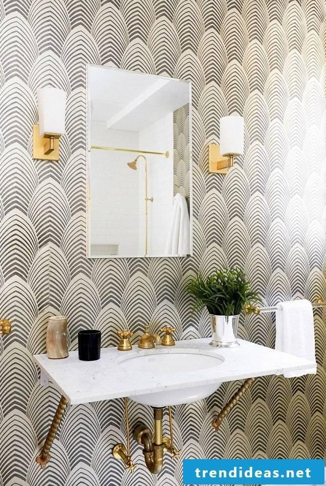 bathroom ideas wall wallpaper badaccessoires