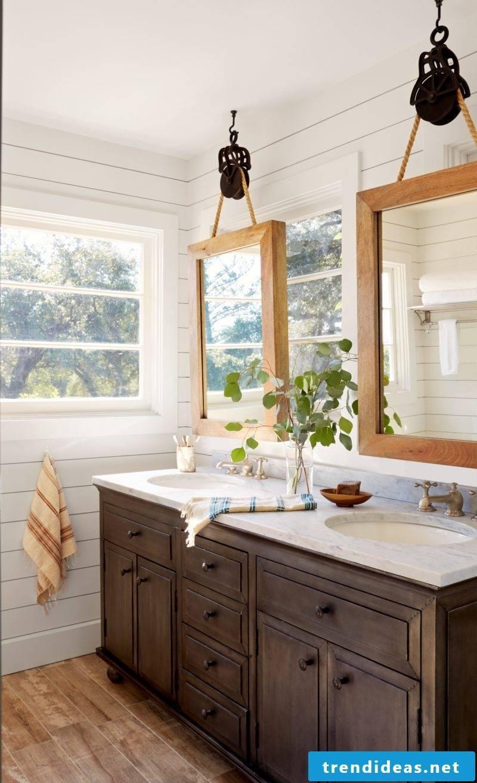 bathroom ideas make DIY mirror