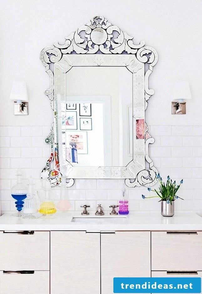 fancy mirror deco bathroom ideas