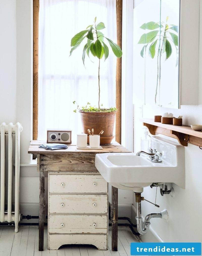 storage bathroom ideas white sink flowers vanity