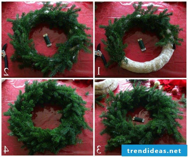 Make Advent wreath yourself - wrap pine cones