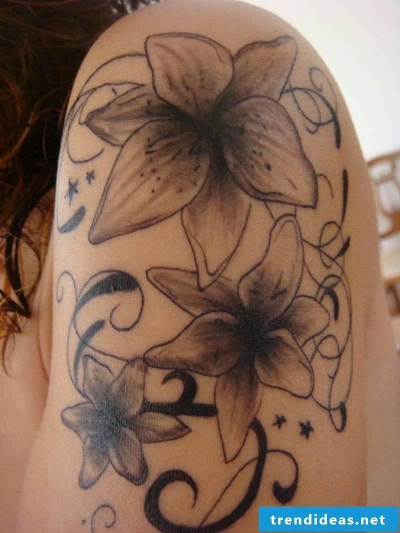 stylized lilies original tattoos