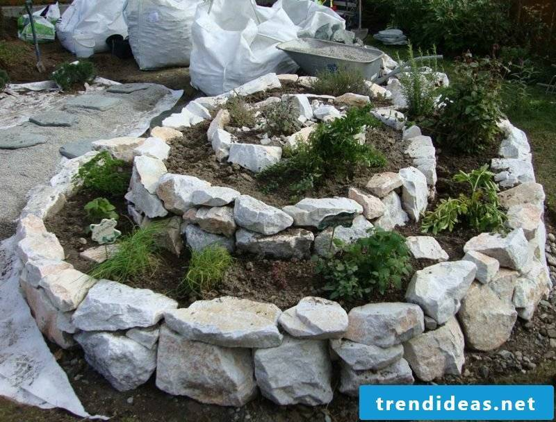 original garden design to build herbal snail