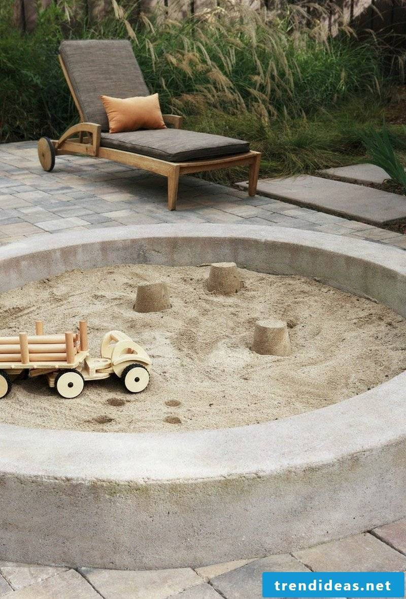 Build sandbox with stones